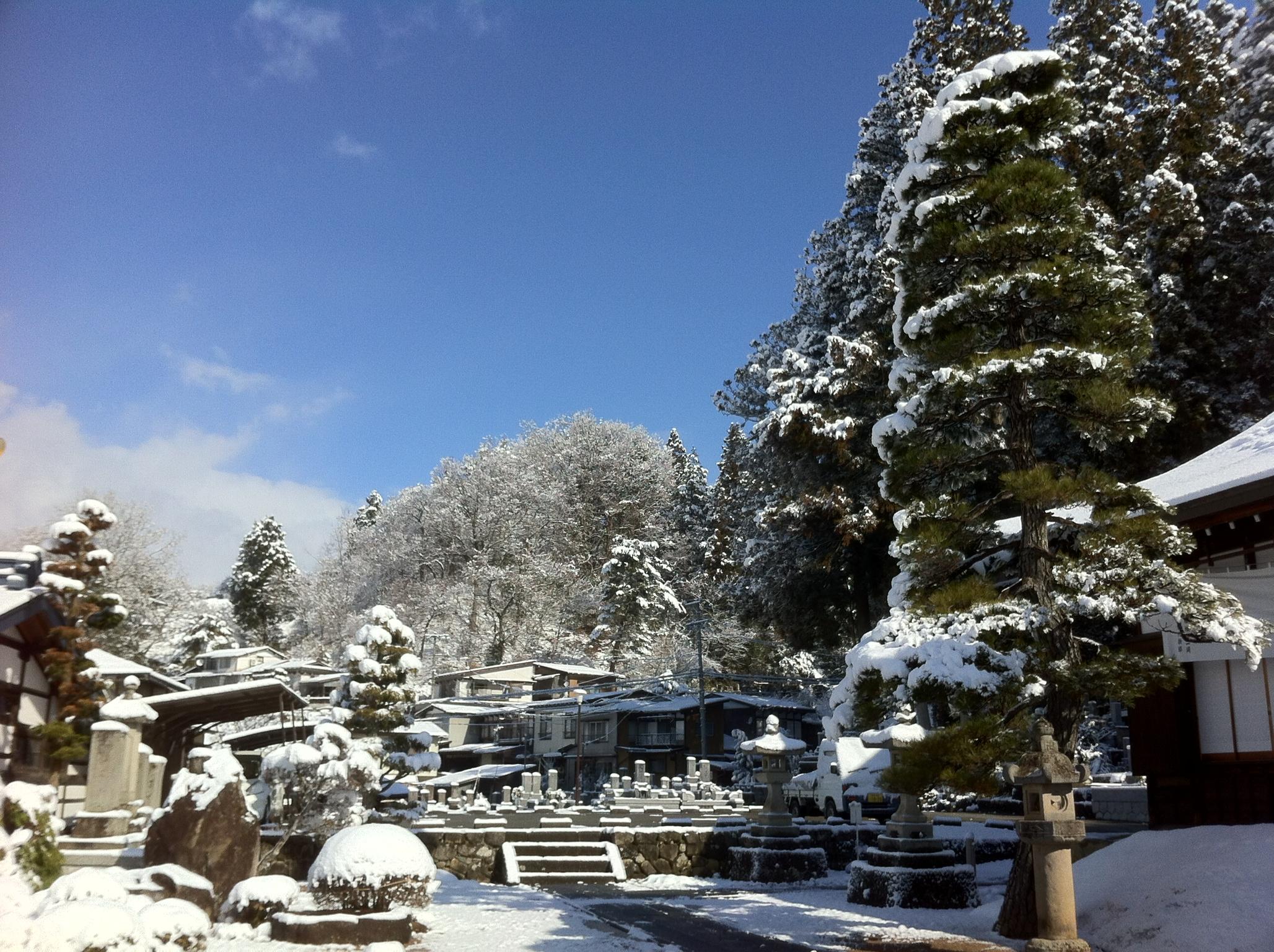雲龍寺の雪2