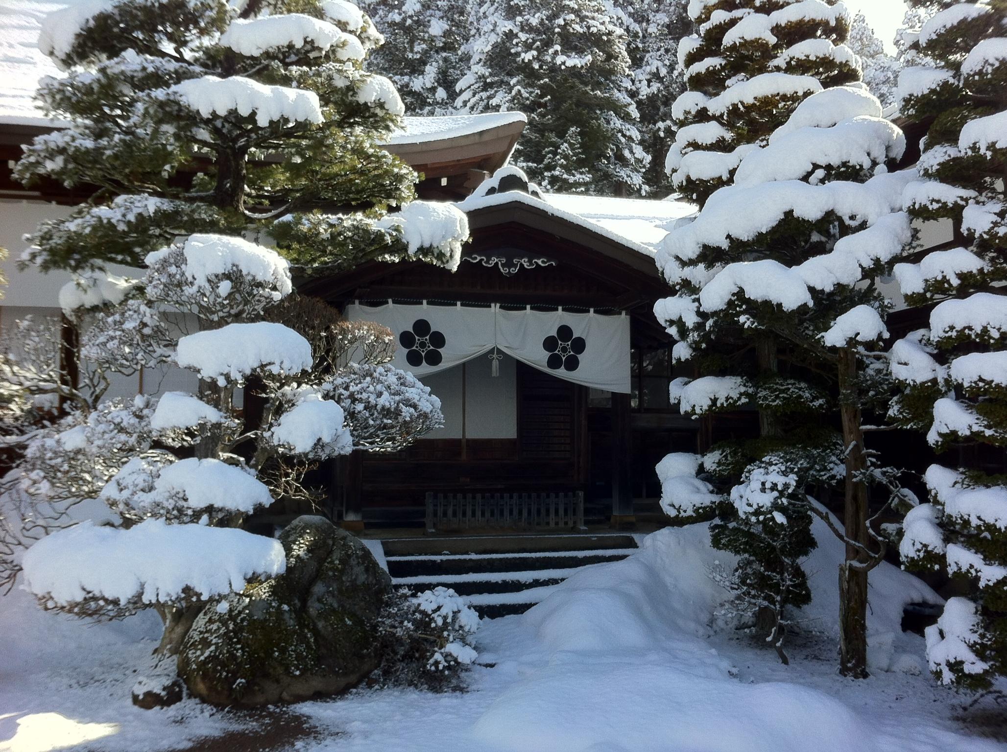 雲龍寺の雪1